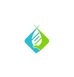 hand dna medic logo vector image