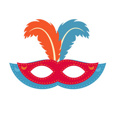 happy brazilian carnival day red and blue color vector image