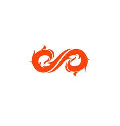 infinity fire logo vector image