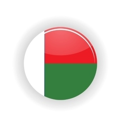 Madagascar icon circle vector image