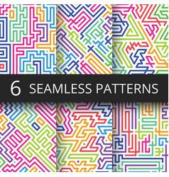 modern geometric seamless patterns vector image