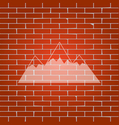 Mountain sign whitish icon vector