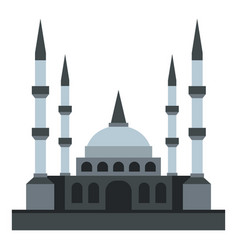 Muslim mosque icon isolated vector