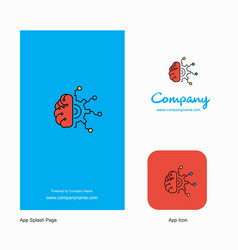 Neurons company logo app icon and splash page vector