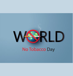 no smoking and world no tobacco day paper cut vector image