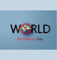 No smoking and world tobacco day paper cut vector