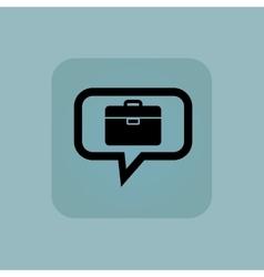 Pale blue briefcase message icon vector