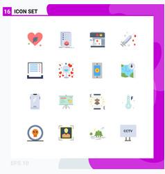 Pictogram set 16 simple flat colors payment vector