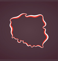 Poland - outline map vector
