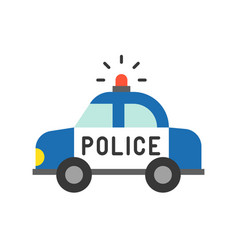 police car police related icon vector image