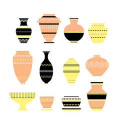 Pottery icon set vector