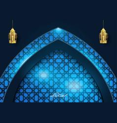 Ramadan kareem islamic light geometry background vector