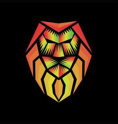 rasta lion abstract logo vector image