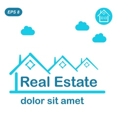 Real estate logo conception vector