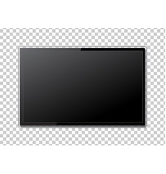 realistic tv screen modern stylish lcd panel led vector image