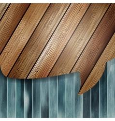 Realistic wooden speech bubbles EPS 10 vector image
