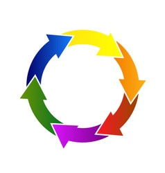 recycle colorful arrows icon vector image