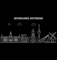 Rotterdam silhouette skyline netherlands vector