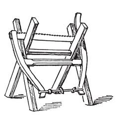 Sawhorse vintage vector