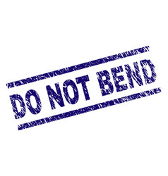 Scratched textured do not bend stamp seal vector