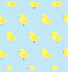 seamless pattern with cute yellow easter chickens vector image