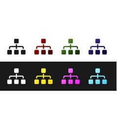 Set business hierarchy organogram chart vector