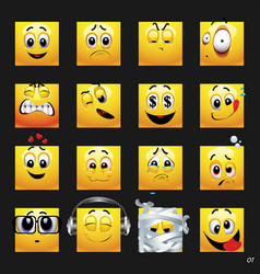 set of face icons set of face icons with vector image