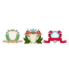 set of vintage emblem badge vector image