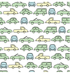 simple cute car pattern isolated background for vector image