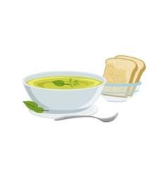 Soup European Cuisine Food Menu Item Detailed vector