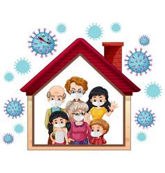 Stay home to prevent coronavirus vector