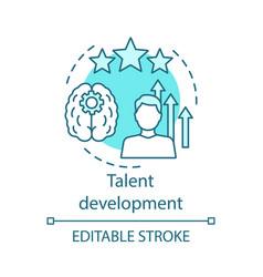 Talent development turquoise concept icon vector