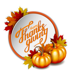 thanksgiving banner hand drawn happy thanksgiving vector image