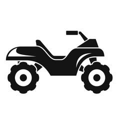 Top quad bike icon simple style vector