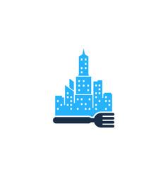 Town food logo icon design vector