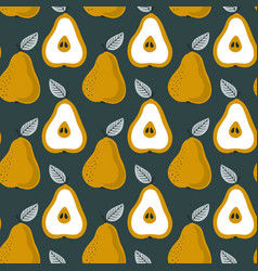 Trendy seamless pear pattern repetitive simple vector