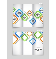 Tri-fold brochure template design vector image