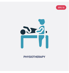 Two color physiotherapy icon from people concept vector
