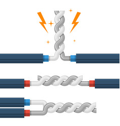 Types wires twisting shorting high-voltage vector