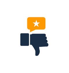 unlike testimonial logo icon design vector image