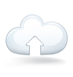 Upload Cloud vector image