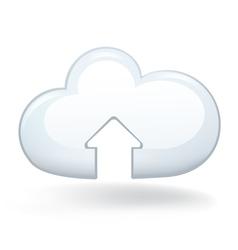 Upload Cloud vector image