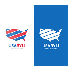 usa logo combination america and vector image