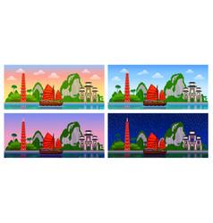 Vietnam panoramic view vector
