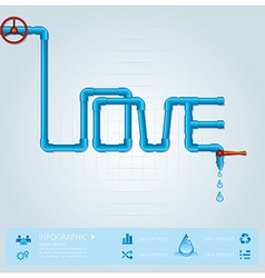 Water Pipe Business Infographic For Valentine Day vector
