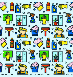 window cleaning seamless pattern vector image