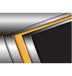 yellow silver arrow with dark gray blank space vector image