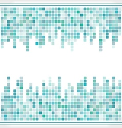abstract aqua mosaic square background vector image vector image