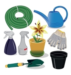 Care of plants for the garden and country houses vector image vector image