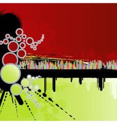 rainbow grunge background vector image vector image